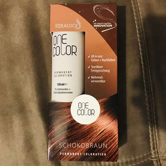ONE COLOR by KERALOCK Permanent Coloration, Farbe: Schokobraun