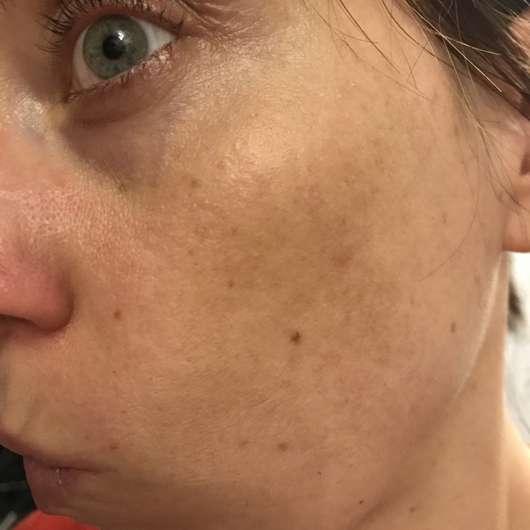 Haut nach 4-wöchigem Test - Dr. Scheller Argan & Amaranth Anti-Falten Intensiv-Serum
