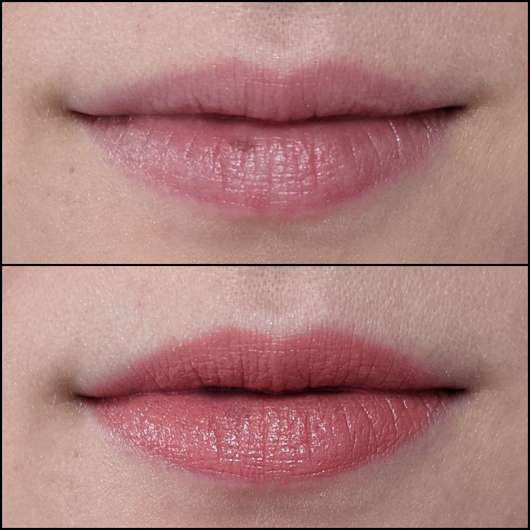 Lippen ohne/mit ARTDECO Perfect Color Lipstick, Farbe: 882 Candy Coral (LE)