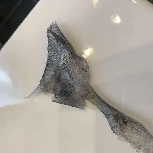 Balea Peel-Off Maske mit Aktivkohle - abgezogen