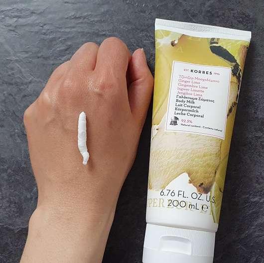 KORRES Ingwer Limetten Körpermilch