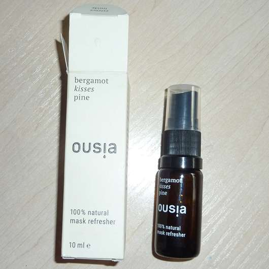 "ousia essence Mask Refresher ""Bergamot kisses Pine"""