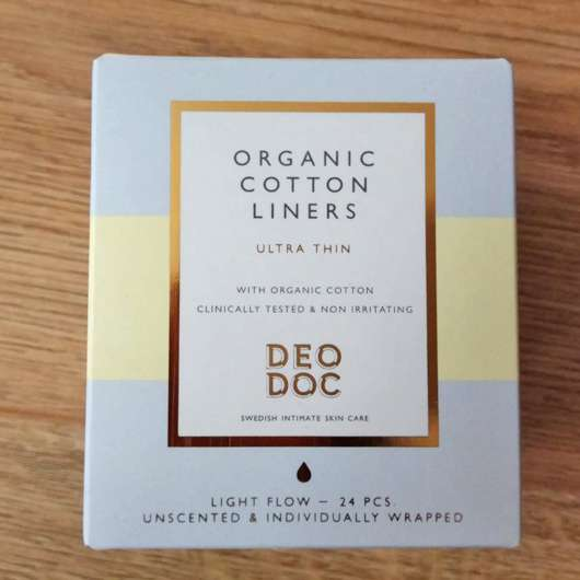 DeoDoc 100% Organic Cotton Liners