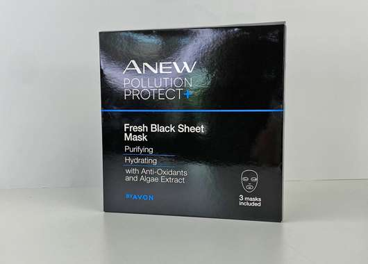 AVON ANEW Pollution Protect+ Fresh Black Sheet Mask