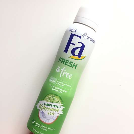 Fa Fresh & Free Limetten- & Kokosnuss-Duft Deodorant Spray