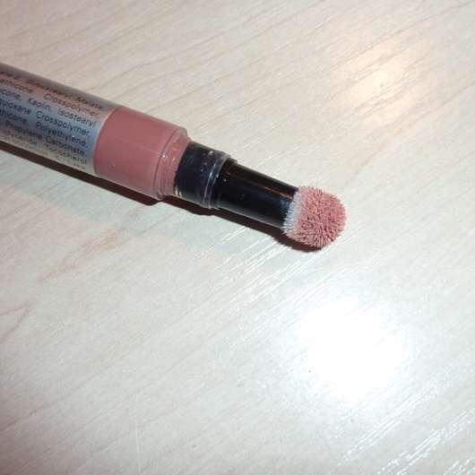 IsaDora Liquid Blend Soft Matt Lip Color, Farbe: 80 Toffee Pink - nach der Benutzung