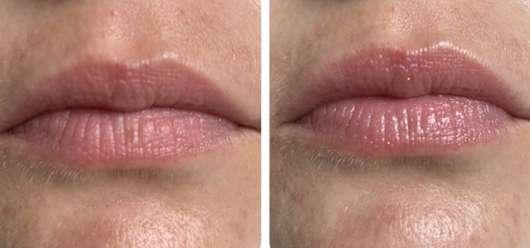 Lippen ohne/mit Dr. PAWPAW Shimmer Balm