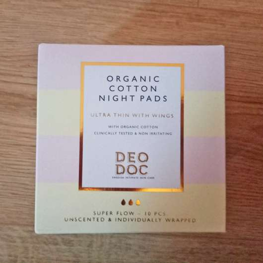 <strong>DeoDoc</strong> 100% Organic Cotton Night Pads