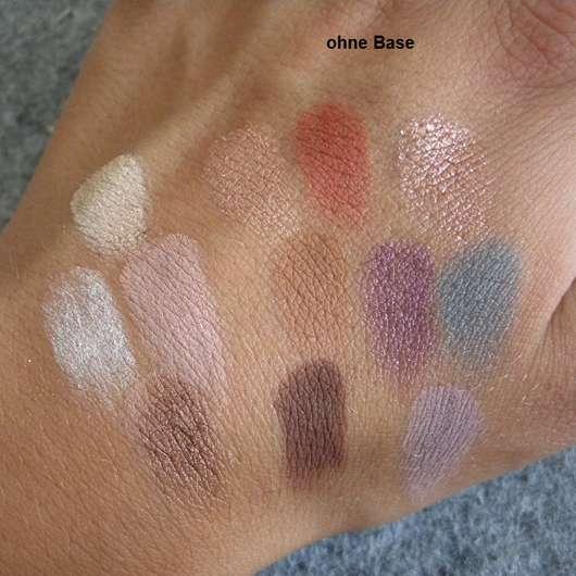 Physicians Formula Butter Eyeshadow Palette, Farbe: Tropical Days - einzelne Lidschatten-Swatches ohne Base