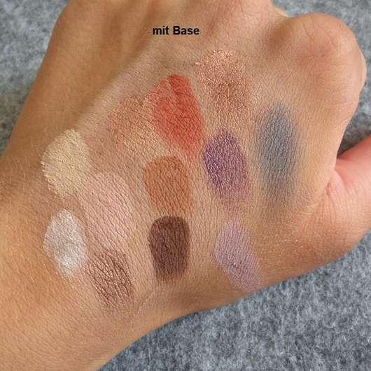 Physicians Formula Butter Eyeshadow Palette, Farbe: Tropical Days - einzelne Lidschatten-Swatches mit Base
