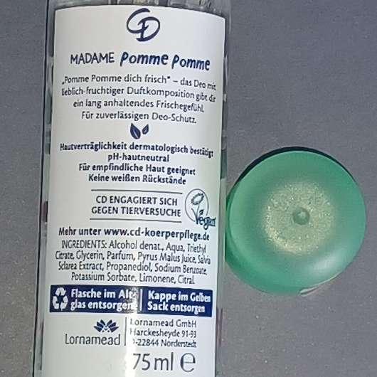CD Madame Pomme Pomme Deodorant Zerstäuber