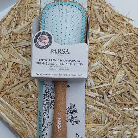 <strong>PARSA BEAUTY</strong> Nature Love Kork Entwirr-Haarbürste Wet & Dry Organic
