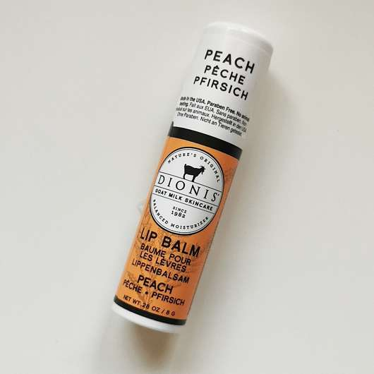 "<strong>Dionis™</strong> Goat Milk Lip Balm ""Peach"""