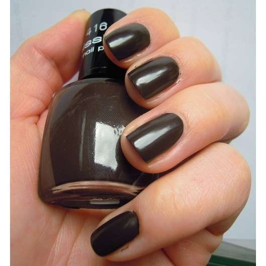 Misslyn nail polish, Farbe: 416 double chocolate