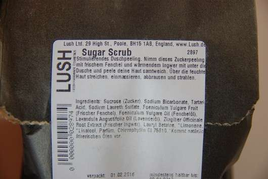 Lush Sugar Scrub (Körperpeeling)