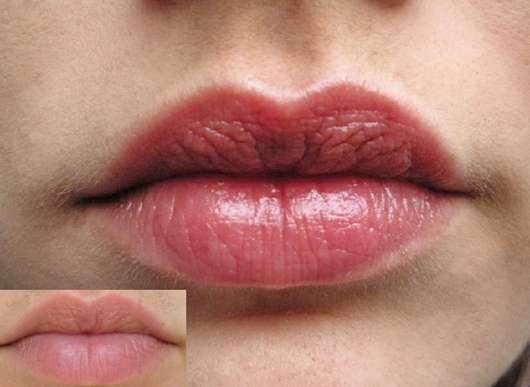 kleines Bild: ohne Lip Tint Oil // großes Bild: mit SASH Lip Tint Oil mit Pigmenten, Farbe: Rosewood