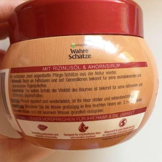 Garnier Wahre Schätze Intensiv Reparierende Tiefenpflege-Maske